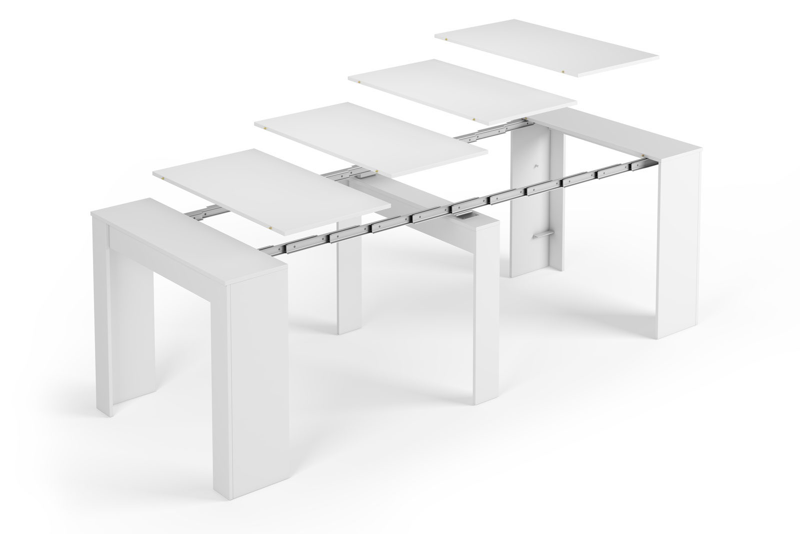 Mesa consola convertible en mesa de comedor