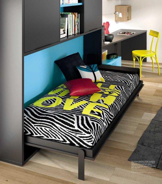 Dormitorio con cama abatible horizontal 29 muebles mkit - Muebles jose maria ...