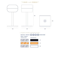 Medidas y colores del cargador E-BASE