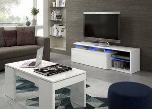 Mueble Tv Led Tech blanco