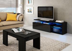Mueble Tv led Tech negro.