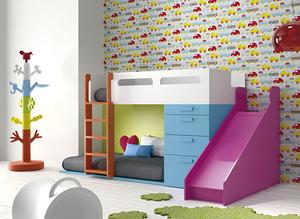 Litera infantil multicolor