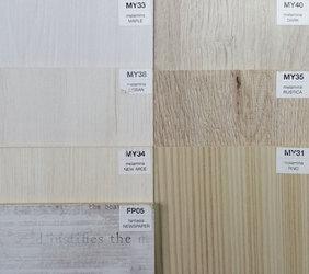 Otros acabados disponibles, melamina color madera