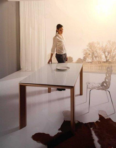 Muebles Kit - Mesa comedor Vega Tapa cristal - Mkit
