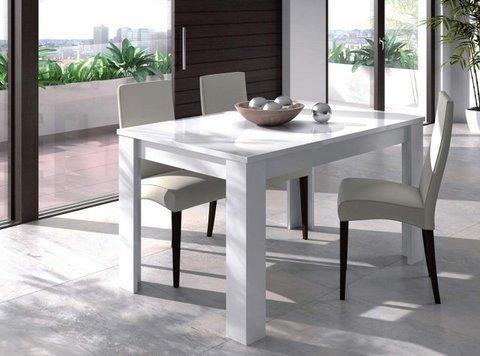 Muebles Kit - Mesa comedor Practico blanco brillo - Mkit