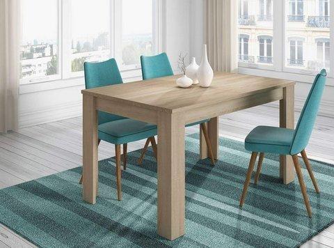 Muebles Kit -  Mesa comedor Practico color roble - Mkit