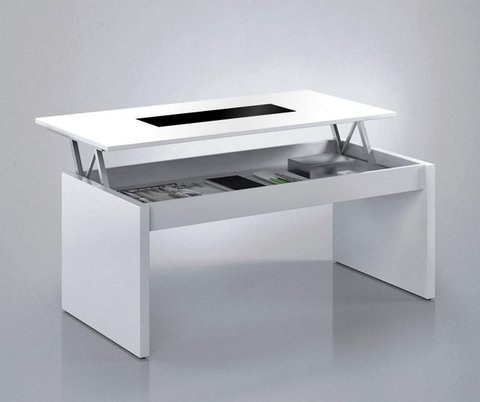 Muebles Kit - Mesa centro Attuale blanca cristal - Mkit