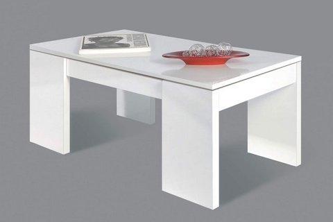 Muebles Kit - Mesa centro Flow Blanco brillo - Mkit