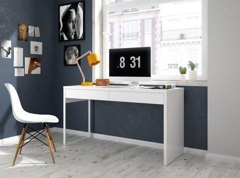 Mesa estudio o mesa de trabajo con dos cajones for Mesa estudio con cajones