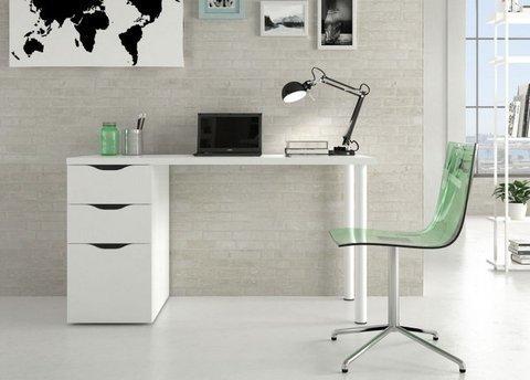 mesa estudio o mesa de trabajo con dos cajones y puerta